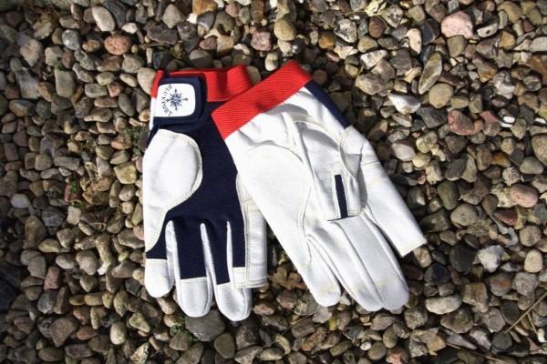 "Professional Handschuhe ""Amara"" mit Fingerkuppen navy/rot"