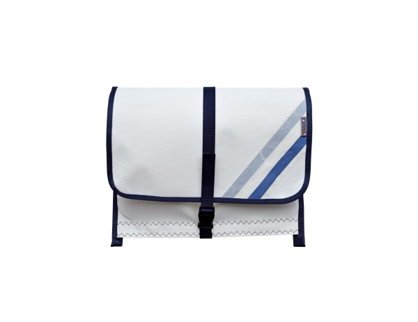 sailcloth railing bag, size 1: 2 compartments