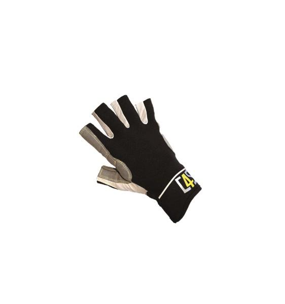 c4s Racing Segelhandschuhe - 5 Finger geschnitten, schwarz