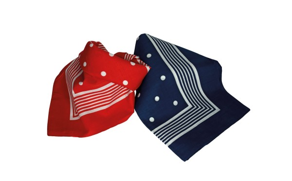 Neckerchief ANCHOR blue 70x70 cm