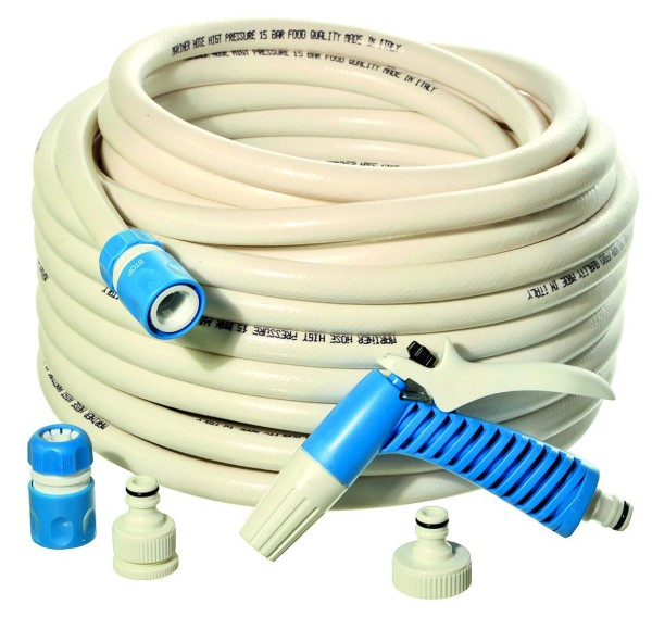Hose Cleaning Set 15 m, Hose with Nozzle and Connectors