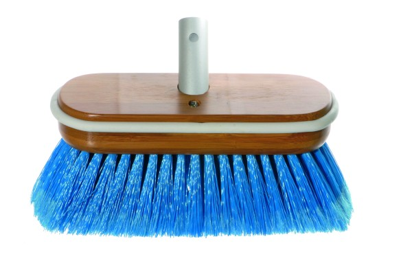Brush Deluxe blue medium with water flow-through