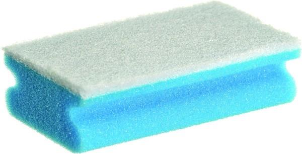 Griffvliesschwamm blau/weiß 150 x 90 x 45 mm