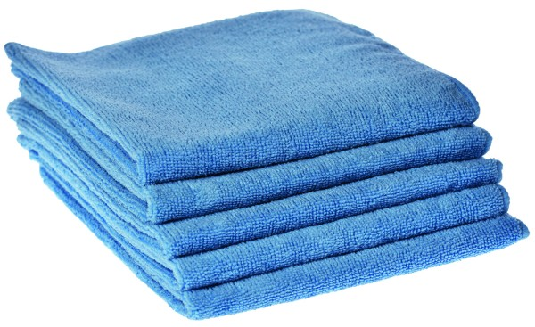 Microfiber polishing and cleaning cloths, pack of 5