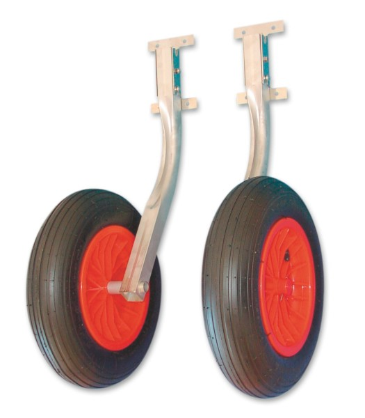 Wheels for inflatable dinghy