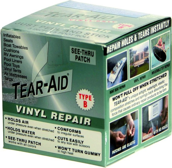 Tear-Aid Typ B Roll 7,6 cm x 1,5 m, for Vinyl and PVC surfaces