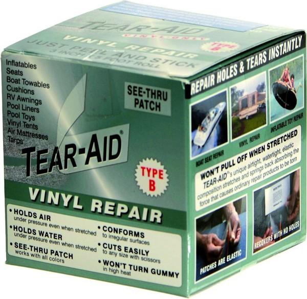 Tear-Aid Typ B Rolle 7,6 cm x 1,5 m, für Vinyl und PVC Oberflächen