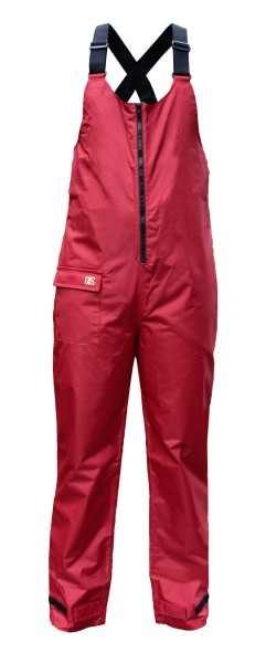 Coastal bib-trousers red S