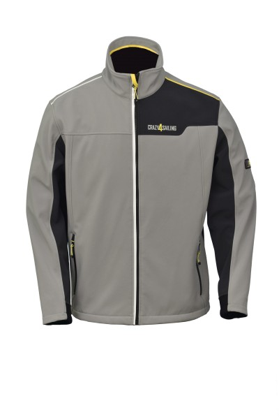 "Softshell Jacke ""Jersey"", grau / carbon"