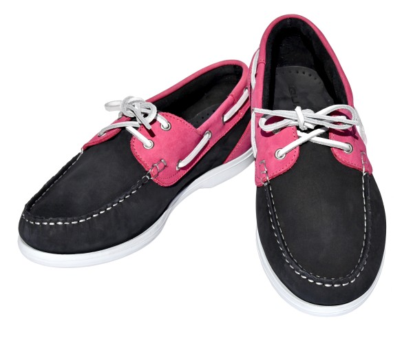 QUAYSIDE Ladies Shoe Bermuda - navy/fuchsia