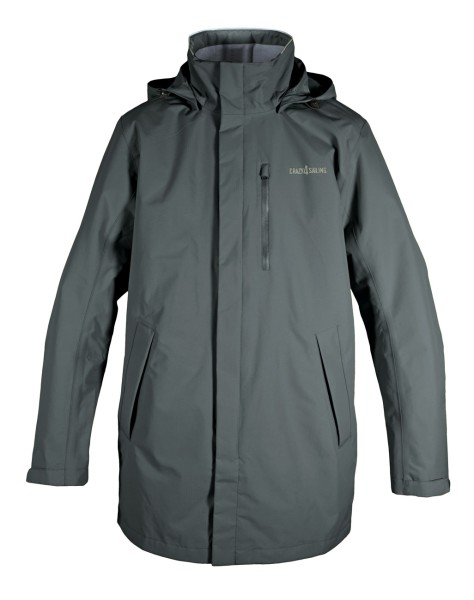 Cardiff Men Jacket, long - dark grey