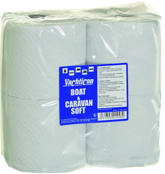 Boat & Caravan Soft WC Papier 4 Rollen