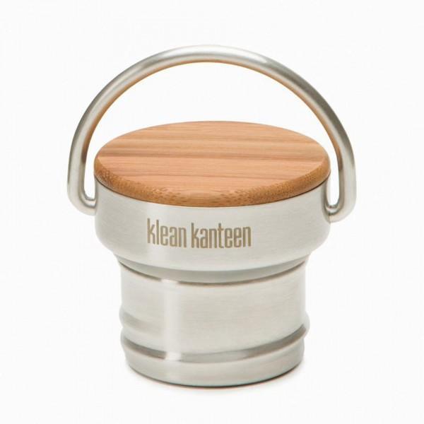 Kanteen® 'Bambus' Edelstahl Deckel für Classic Flaschen Brushed Stainless