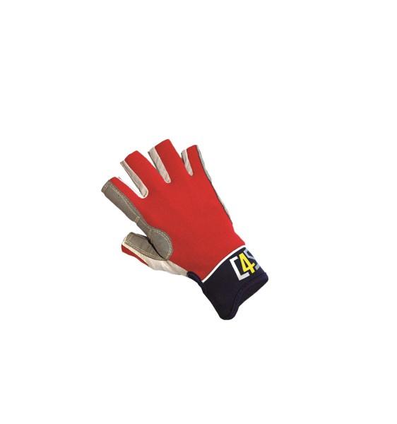 c4s Racing Segelhandschuhe - 5 Finger geschnitten, rot
