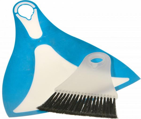 Flexi Dustpan-Set blue