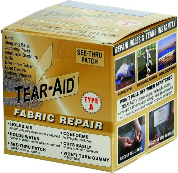 Tear-Aid Typ A Rolle 7,6 cm x 1,5 m, für alle Oberflächen außer Vinyl/PVC