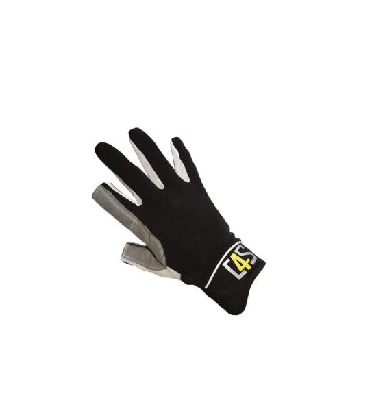 c4s Offshore Segelhandschuhe - 2 Finger geschnitten, black