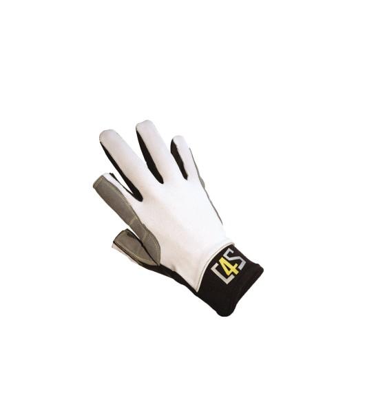 c4s Offshore Segelhandschuhe - 2 Finger geschnitte - Weiß - XS