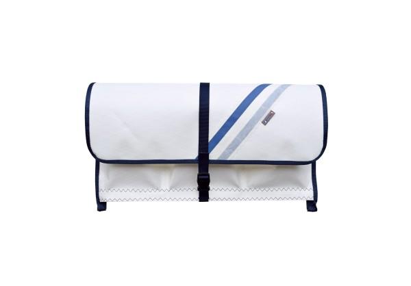 sailcloth railing bag, size 2: 3 compartments