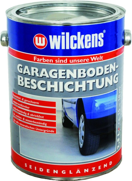 WILKENS Garage Floor Coating silver grey RAL 7001 2500 ml