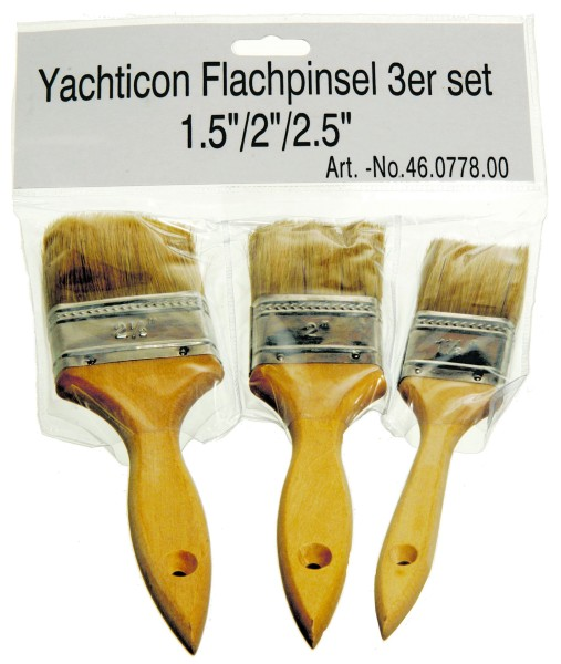 "Flachpinsel 3er Set 1,5"" / 2"" / 2,5"""
