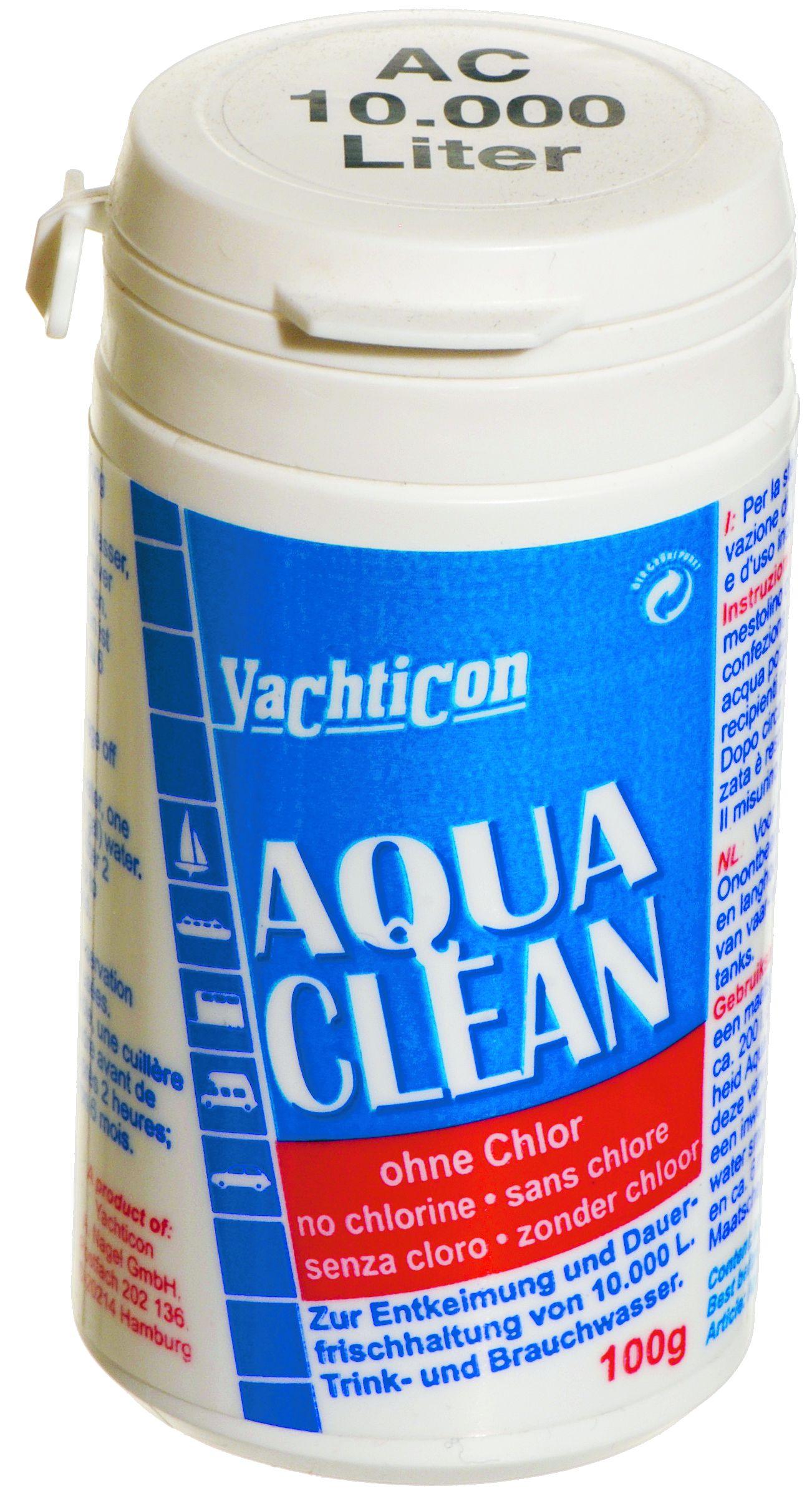 aqua clean ac ohne chlor 100 g aqua clean trinkwasser yachticon shop. Black Bedroom Furniture Sets. Home Design Ideas