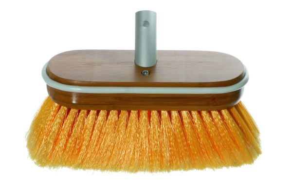 Brush Deluxe yellow soft with water flow-through