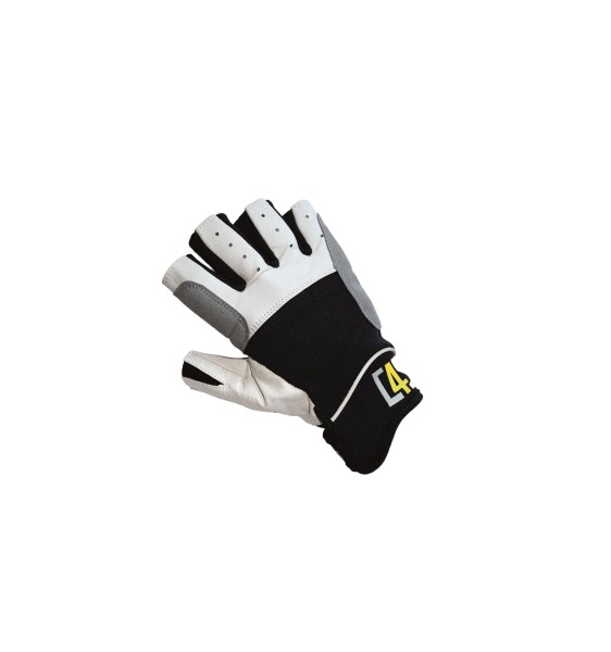 c4s Regatta Segelhandschuhe - 5 Finger geschnitten, black