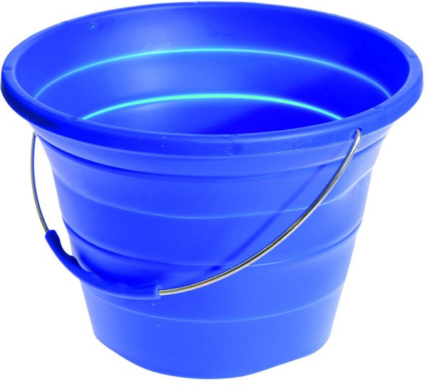 Foldable Silicone Bucket blue 7 litres
